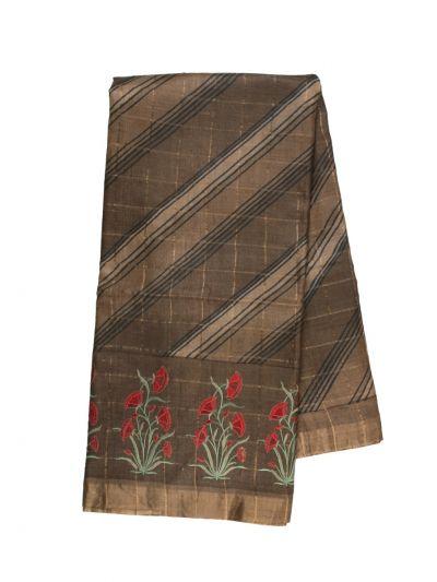 Fancy Pure Tussar Silk Printed Saree - OFA7358893