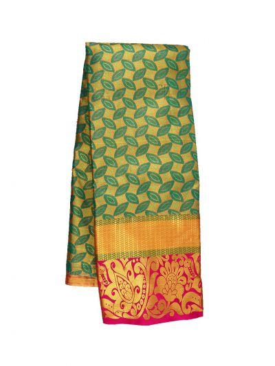 Silk Pavadai Dhavani Material Set - OFA7258500