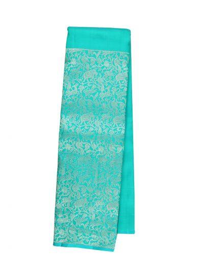 Vivaha Cyan Wedding Silk Saree - OFA7831645