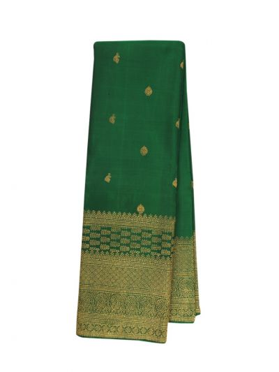 Vivaha Green Kanchipuram Pure Wedding Silk Saree - OEA4602314
