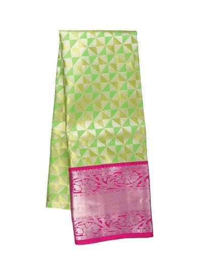 Silk Pavadai Dhavani Material Set - OFA7900174