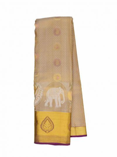 Traditional Embossed Jari Butta Silk Saree - OEC6284841