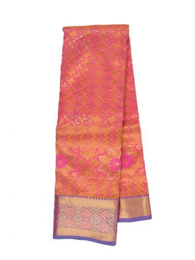 Traditional Stone Work Silk Saree - NKA1989625