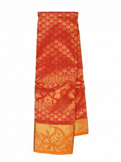 Traditional Jari Butta Orange Silk Saree - OFB7954780