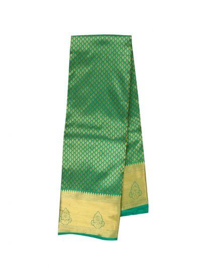 Vivaha Wedding Jari Butta Green Silk Saree - OFB8540127