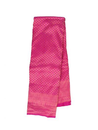 Vivaha Wedding Jari Butta Pink Silk Saree - OFB8540156