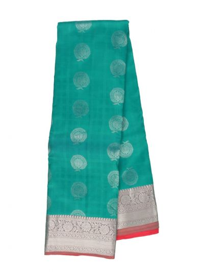 Traditional Green Silk Saree - OAD1902013