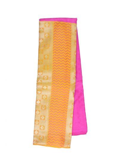 Traditional Plain Embossed Half & Half Design Silk Saree - OAD1928050