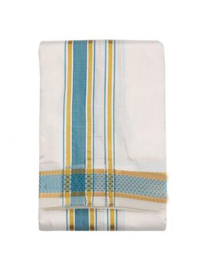 Vivaha Traditional Pure Silk Fancy Border Dhoti - NLD6167113