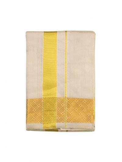 Vivaha Fancy Border Silk Dhoti and Angavastram - ODC3206480