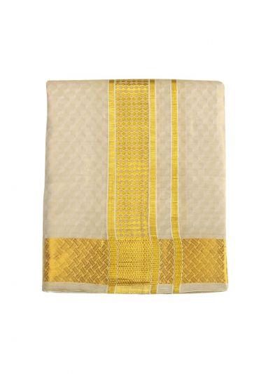 Vivaha Fancy Border Silk Dhoti and Angavastram - ODC3206475