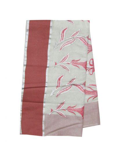 Women's Kerala Traditional Saree  - OEA4206569