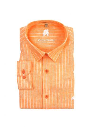 Zulus Festin Men's Readymade Linen Shirt