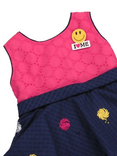 Infant Girls Printed Design Synthetic Fancy Frock - MGC0250541 Size-12(0 to 6 months)