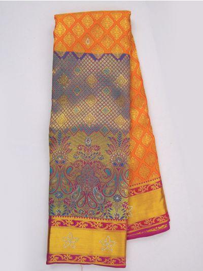MJA6852297-Vivaha Wedding Stonework Silk Saree