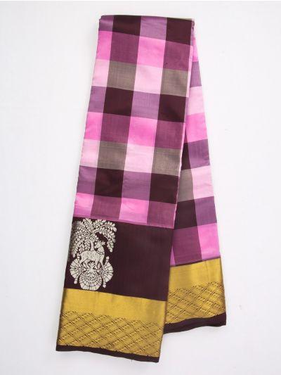 MFA9416318-Bairavi Checked Gift Art Silk Saree