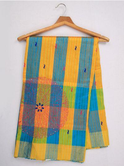 MJC7619275-Embroidery Designs Soft Silk Saree