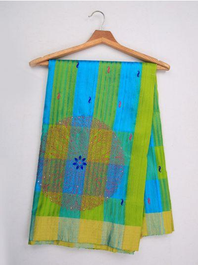 MJC7619269-Embroidery Designs Work Soft Silk Saree