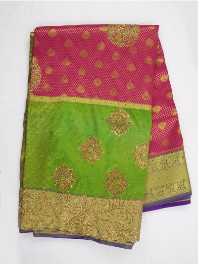 Vivaha Wedding Silk Saree With Stone Work Design - MIA2929850