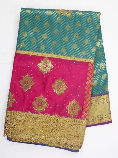 Vivaha Wedding Silk Saree With Stone Work Design - MIA2929851