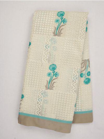 MJA6991878-Fancy Semi Tussar Embroidery Saree