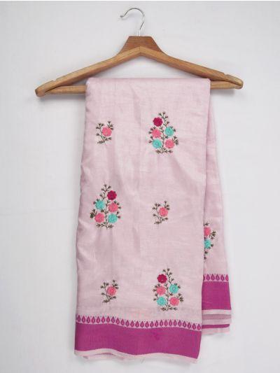 Nadhira Fancy Embroidered Cotton Mixed Saree - MIB3324975