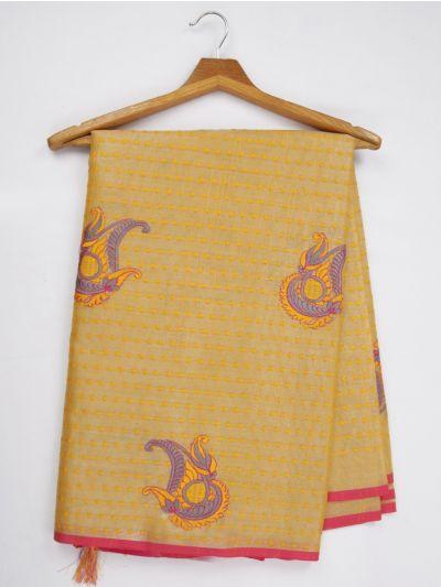 Kathana Fancy Tissue Slub Embroidered Saree - MJD8051096