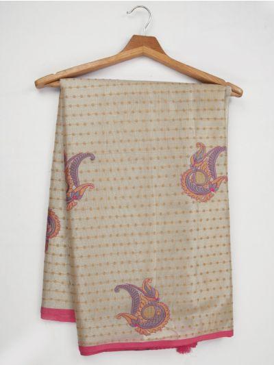 Kathana Fancy Tissue Slub Embroidered Saree - MJD8051101