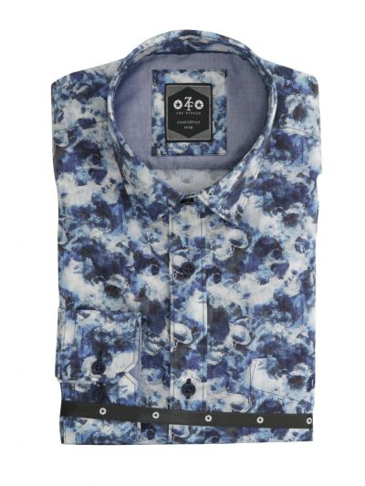 ZF Men's Readymade Casual Cotton Shirt-MKC9747559