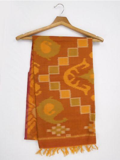 MKB9272464-Chamelli Pochampally Design Silk Cotton Saree