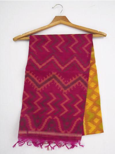 MKB9272478-Chamelli Pochampally Design Silk Cotton Saree