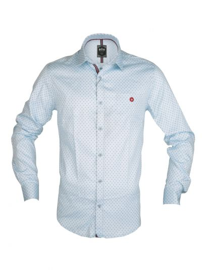 ZF Men's Readymade Casual Cotton Shirt With Matching Color Mask - NDC1191114