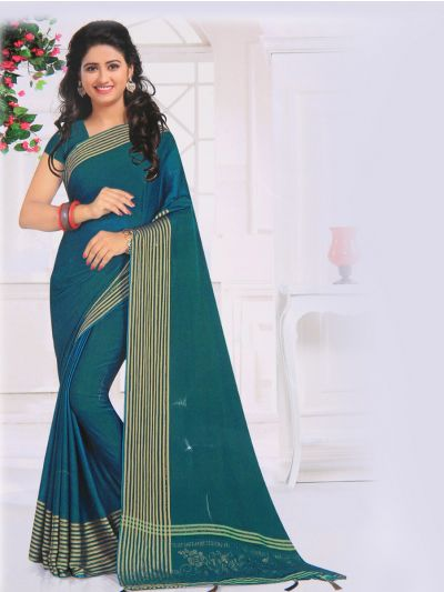 Yuvathi Synthetic Stone Work Saree - MIB3456138