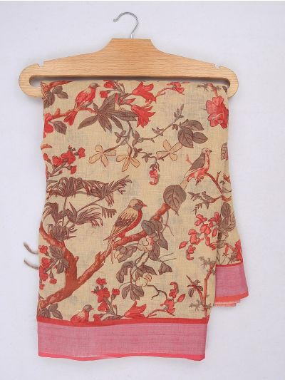MIB3584405-Khyathi Linen Cotton Saree