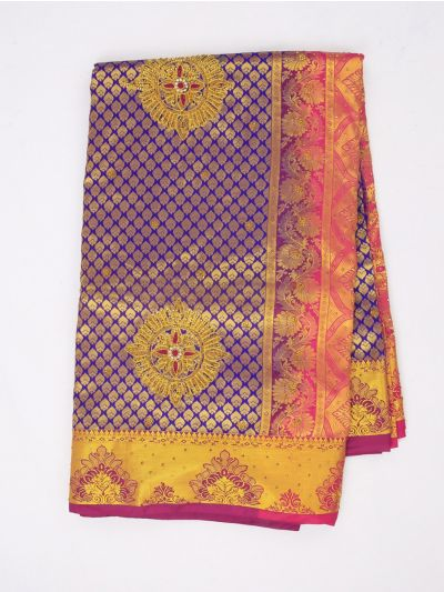 Vivaha Exclusive Wedding Stone Work Silk Saree - MIB3521356