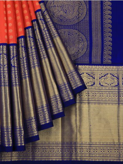 MCA8133433-Vivaha Wedding Pure Kanchipuram Silk Saree