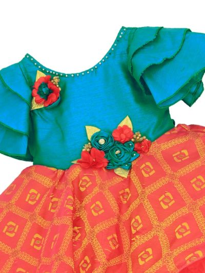 Infant Girls Synthetic Fancy Frock - MFB3166555 Size-14(6 to 9 months)