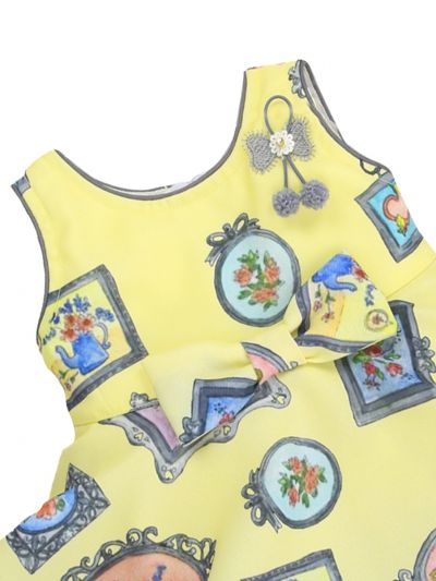 Infant Girls Printed Design Synthetic Fancy Frock - MJA7045779 Size-12(0 to 6 months)
