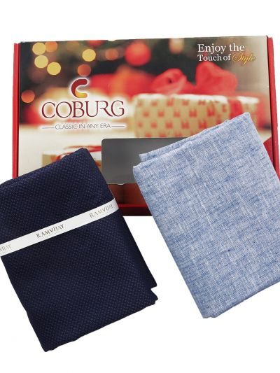 COBURG Shirt & Trouser Poly Viscose Mixing Fabric Set - MFB4794312