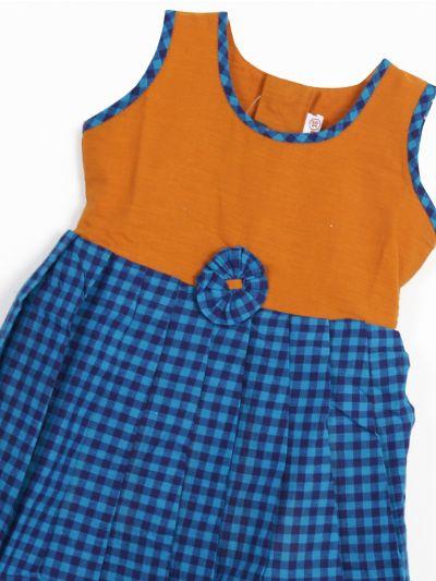MKD0039209-Infant Fancy Girls Cotton Frock (1 Year)