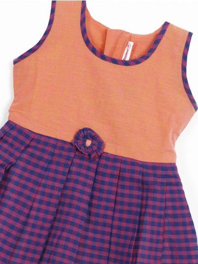 MKD0039192-Infant Fancy Girls Cotton Frock (1 Year)