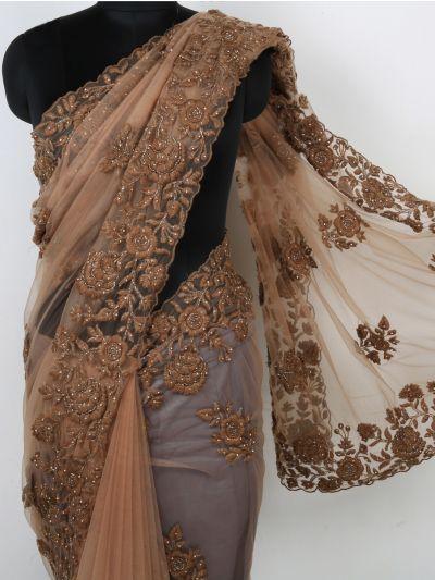 Kyathi Exclusive Resham & Silf Kundan Work Designer Saree - MIA2680156