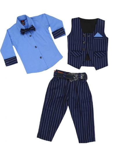 Boy Formal Coat With Shirt, Waistcoat, Tie And Pant Set-MJB7322125 Size 16 - (1 Year)