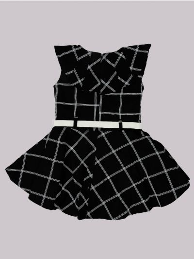 Infant Girls Fancy Printed Denim Frock - MID5820046