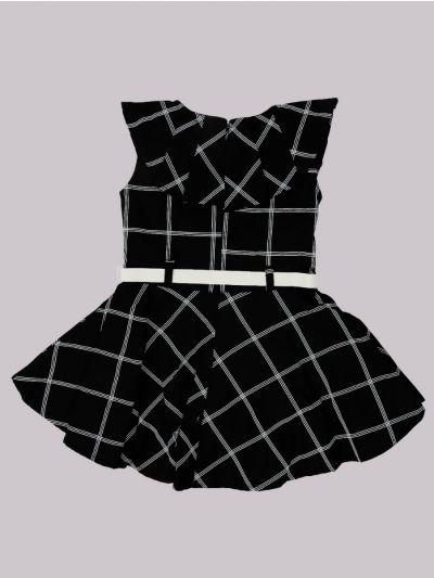 Infant Girls Fancy Printed Denim Frock - MID5820068