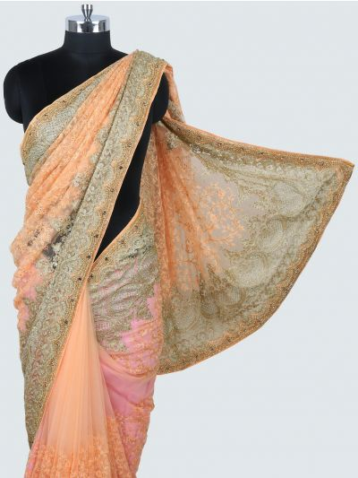 Kyathi Exclusive Thread Jaal & Zardosi Work Designer Saree - MIA2929012