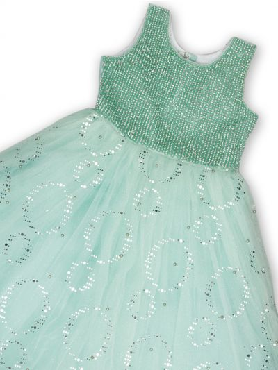 NDB0882301 - Girls Fancy Netted Frock