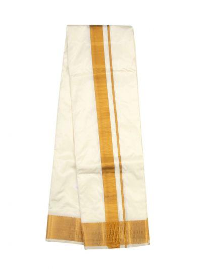 Vivaha Traditional Pure Silk Dhoti Shirt Material and Angavastram Set - OEC6323168