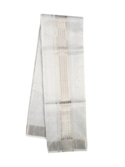 Vivaha Traditional Pure Silk Dhoti Shirt Material and Angavastram Set - NKB2798925