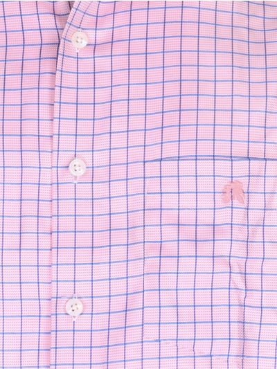 Zulus Festin Cotton Formal Shirt with Matching Color Mask